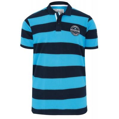 Blue Navy Stripe Polo