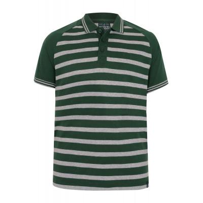 Green Striped Polo