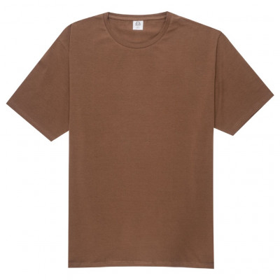 Brown elastane t-shirt