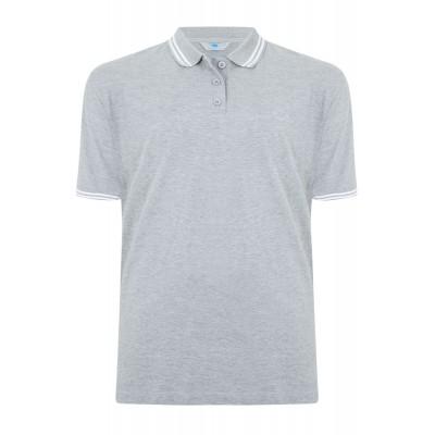 2XLT BadRhino Grey Polo Shirt Long Tale XXL