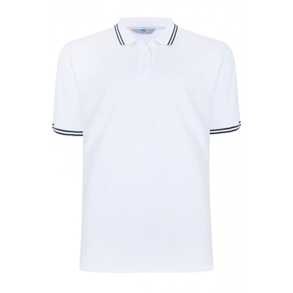 2XLT BadRhino White Polo Shirt Long Tale XXL